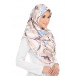 Anis Satin Square Scarf - Dusty Coral