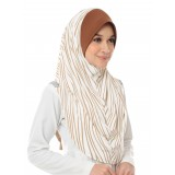 Tudung Sarung Aisya Printed (L) - Beautiful Beige