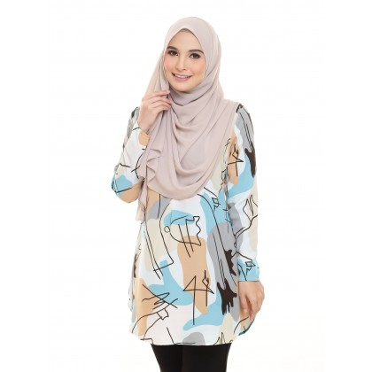 Laraa Printed Blouse - Lemon Zest