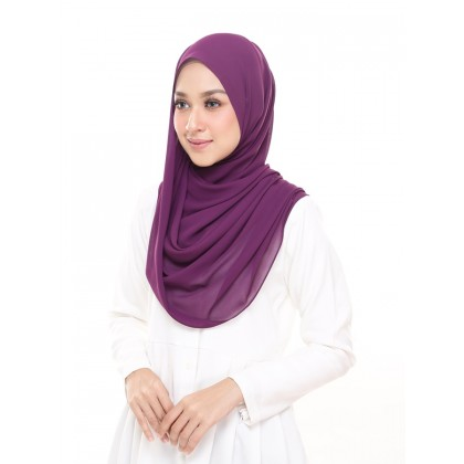 Lisa Long Chiffon Shawl - Amethyst