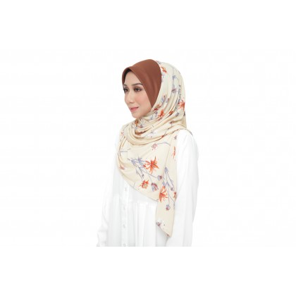 Instant Bawal Raisya Printed Adult - Dusty Yellow