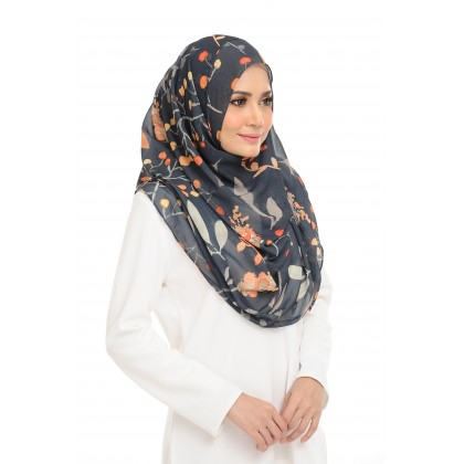 Lily Printed Chiffon Instant Shawl - Fantasy Jungle