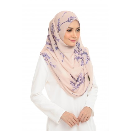 Lily Printed Chiffon Instant Shawl - Thistle Nude