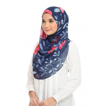 Lisa Printed Chiffon Long Shawl - Ixora Airis