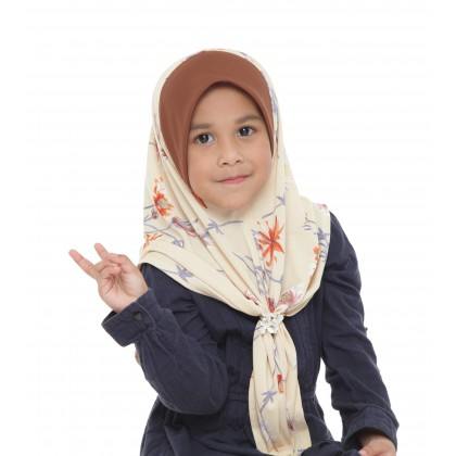 Instant Bawal Raisya Printed Kids S - Dusty Yellow