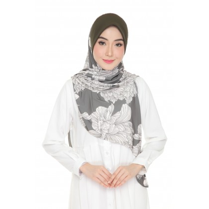 Instant Bawal Raisya Printed Adult - Pine Carnation