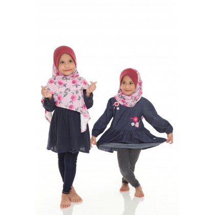 Instant Bawal Raisya Printed Kids S - English Rose