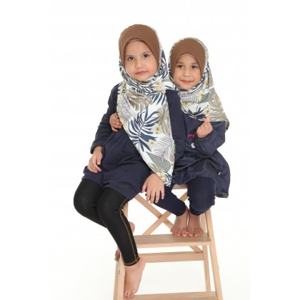 Instant Bawal Raisya Printed Kids S - Oak Tropical