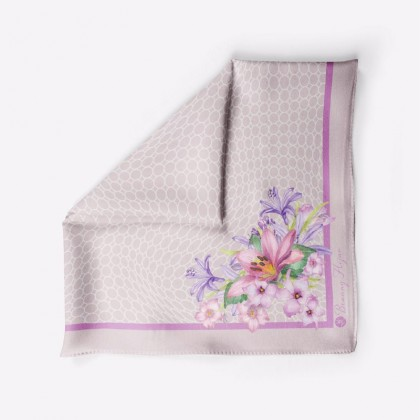 Ranea Satin Silk Square Scarf - Dusty Violet (45')