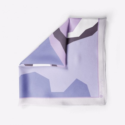 Ranea Satin Silk Square Scarf - Purple Mountain (50')