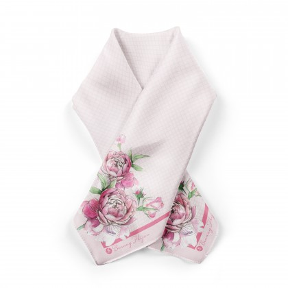 Ranea Satin Silk Square Scarf - Dusty Rose (45')