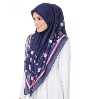 Kaela Cotton Square Scarf - Radiant Blooms