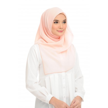 Maira Square Cotton Voile - Novelle Peach