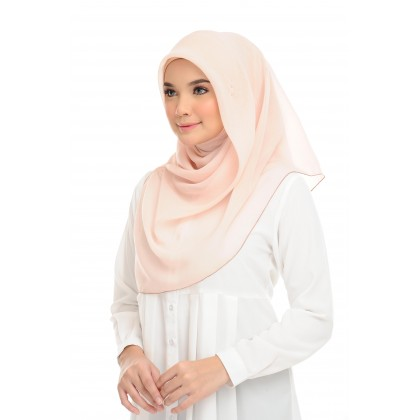 Maira Square Cotton Voile - Peach Puree