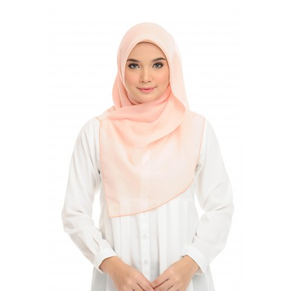 Maira Square Cotton Voile - Pale Peach