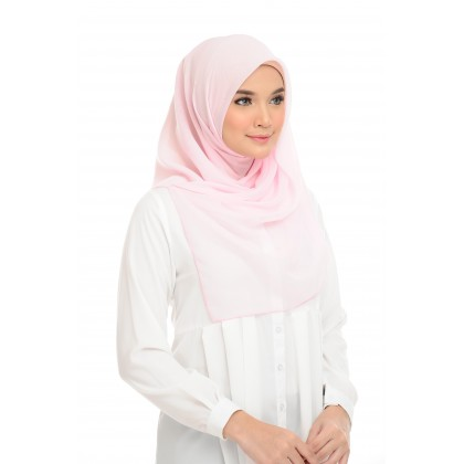Maira Square Cotton Voile - Heavenly Pink