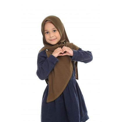 Instant Bawal Raisya Plain Kids S - Olive Night