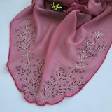 Maira Ruffle Bling Cotton Voile - Rouge Pink