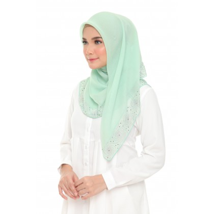 Maira Square Bling Aries Cotton Voile -Lucite Green