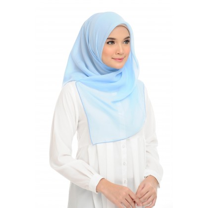PRE-ORDER Maira Square Cotton Voile - Crystal Blue