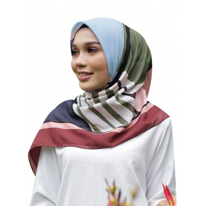Kaela Cotton Square Scarf - Chic Abstract (2nd Batch) 55'