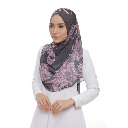 Lisa Printed Chiffon Long Shawl - Candy Bakawali