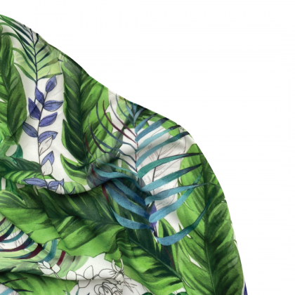 Lisa Printed Chiffon Long Shawl - Classic Tropical