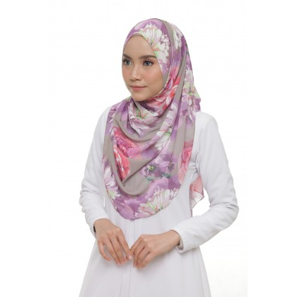 Lisa Printed Chiffon Long Shawl - Lady Roses