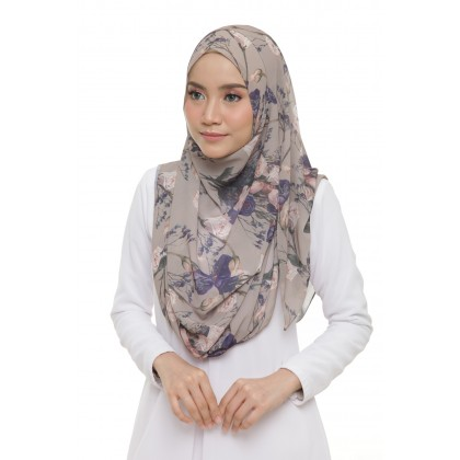 Lily Printed Chiffon Instant Shawl - Thistle Roses