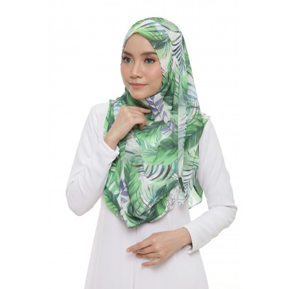 Lily Printed Chiffon Instant Shawl - Classic Tropical