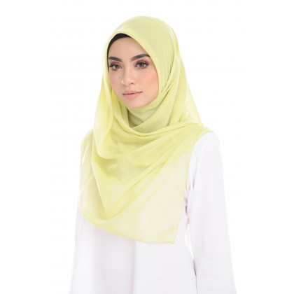Maira Square Luxe Cotton Voile - Bright Lime Green