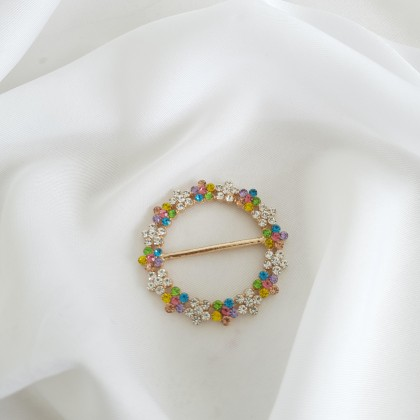 Scarf Ring - Code 001 in Rainbow