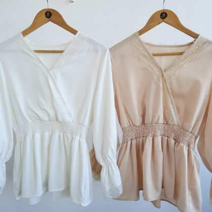 Lacey Blouse Free Size - Dusty Pink