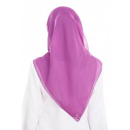 Maira Square Cotton Voile - Magenta Purple