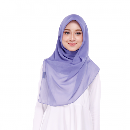 Maira Square Cotton Voile - Purple Impression