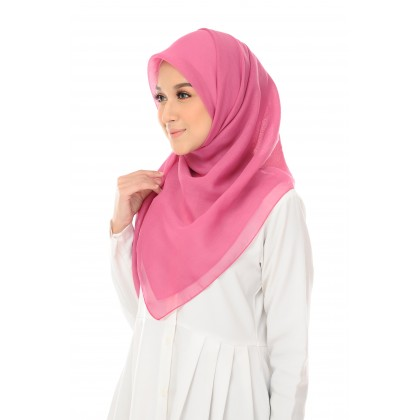 Maira Square Cotton Voile - Radiant Orchid