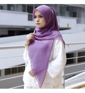 Naura Square Cotton Voile - Chinese Violet