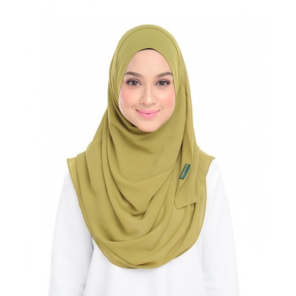 Lily Plain Chiffon Instant Shawl - Golden Lime