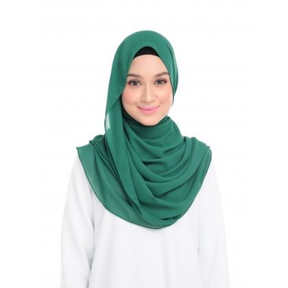 Lisa Long Chiffon Shawl - Ultra Marine Green