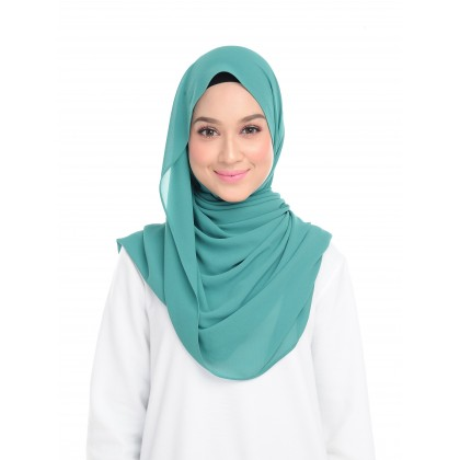 Lisa Long Chiffon Shawl - Sea Green
