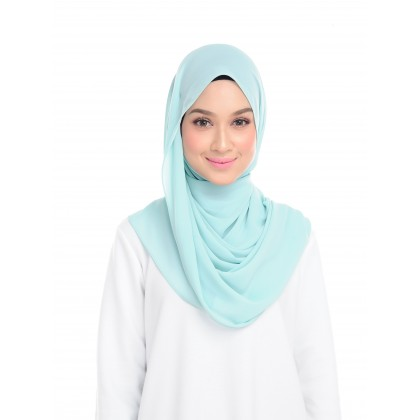 Lisa Long Chiffon Shawl - Mist Green