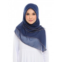 PRE-ORDER Maira Ruffle Cotton Voile - Dark Blue*