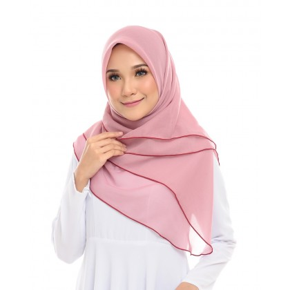 Maira Ruffle Cotton Voile - Rouge Pink*